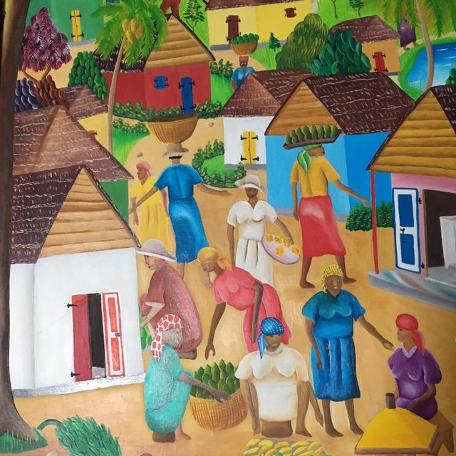 Folk Art Mid-Century Haitian Painting by Raymond Surpris For Sale - Image 3 of 6