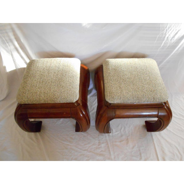Stanley Ming Style Ottomans - A Pair For Sale - Image 4 of 11