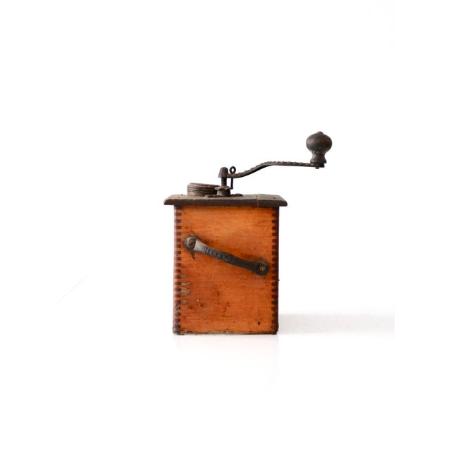 Metal Antique Coffee Grinder For Sale - Image 7 of 7