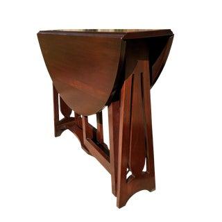 Antique Arts & Crafts Walnut Drop Leaf Pembroke Table For Sale