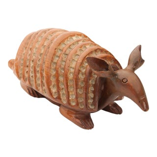 Hand-Carved Wood Armadillo For Sale