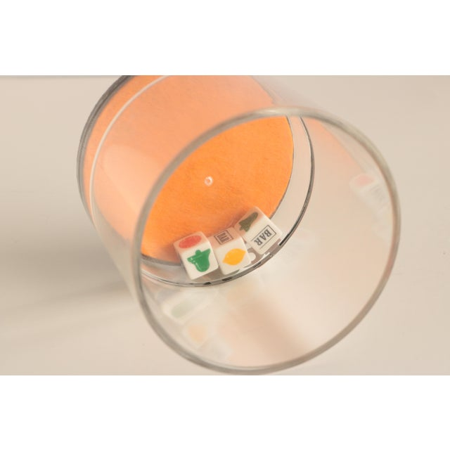 Acrylic Casino Acrylic Lowball Glasses - Set of 4 For Sale - Image 7 of 9