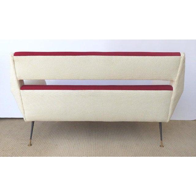 Mid-Century Modern 1960s Vintage Gigi Radice Italian Settee For Sale - Image 3 of 5