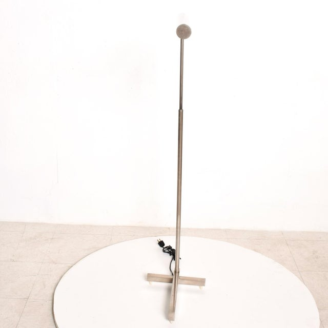 Mid-Century Modern Nickel Plated Task Reading Pharmacy Lamp by Casella For Sale In San Diego - Image 6 of 11