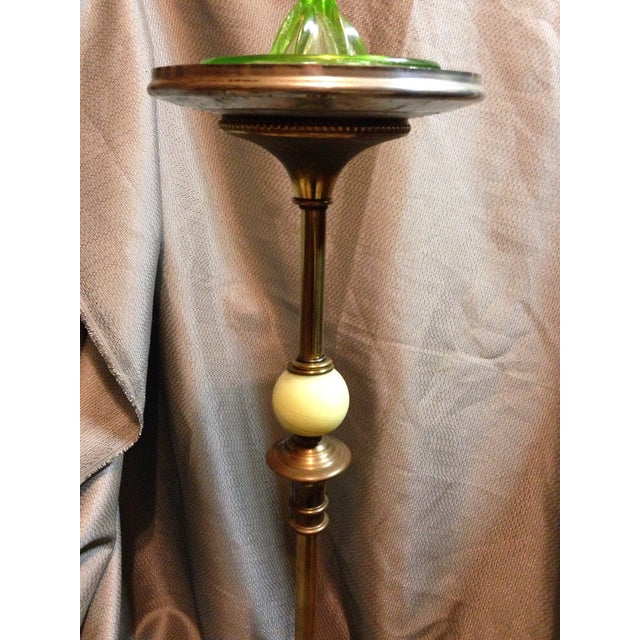Jadeite Art Deco Ashtray Stand For Sale - Image 5 of 6
