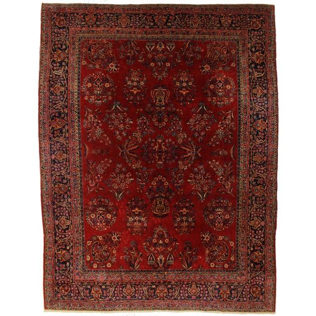 Fine Antique Persian Kashan - 8′11″ × 11′8″ - Image 1 of 2