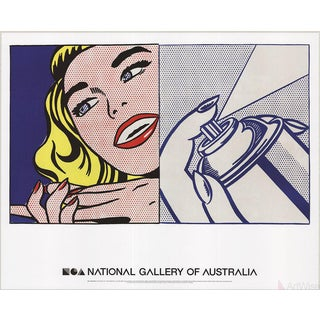 Roy Lichtenstein, Girl and Spray Can, 2013 Poster For Sale