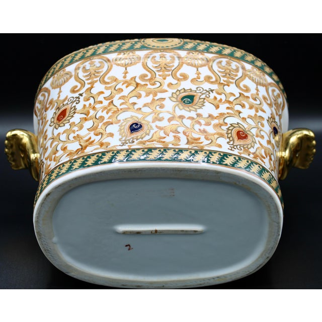 White 1970s Chinese Porcelain Foot Bath For Sale - Image 8 of 10