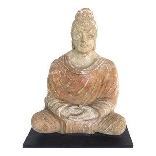 17th-Century Terracotta Buddha, Bangladesh, Provenance Royal-Athena Galleries For Sale