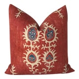 Image of Red Tribal Flame Pillow Cover For Sale