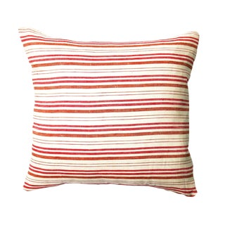 Deauville Red Orange Striped Pillow