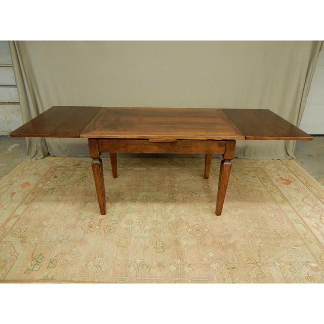 Rustic European Italian Walnut Farm Table For Sale - Image 3 of 6