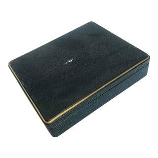 Kifu Black Shagreen Chess Box For Sale