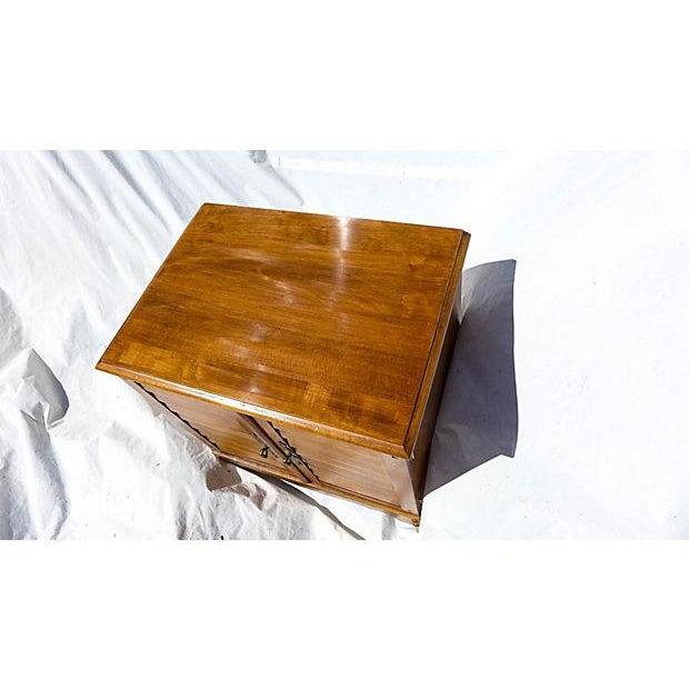 Brown Vintage Maple File Cabinet For Sale - Image 8 of 8