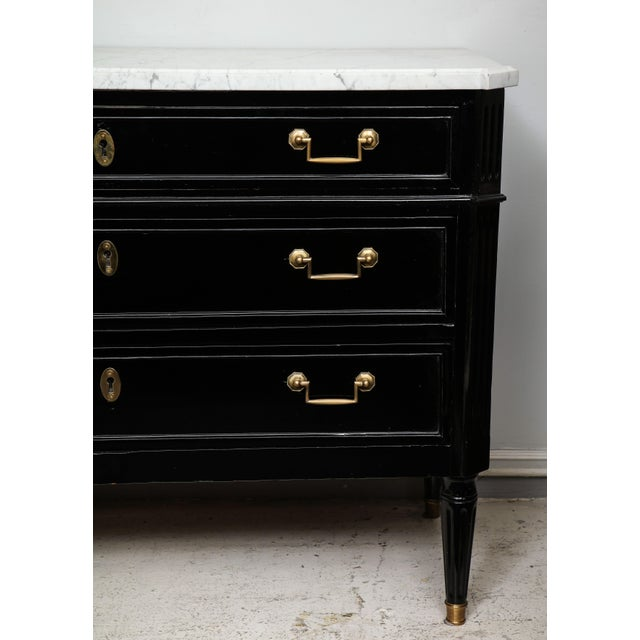 Directoire-Style Commode With Marble Top For Sale - Image 4 of 13