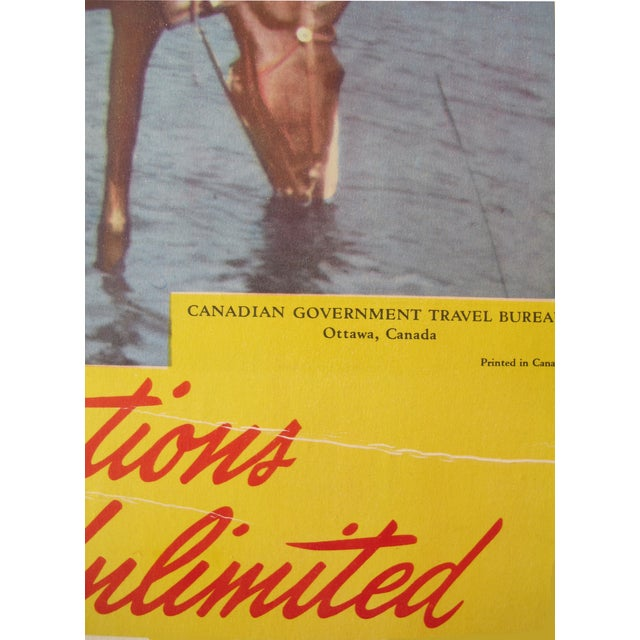 1950s Vintage Canadian Travel Poster - Image 3 of 3