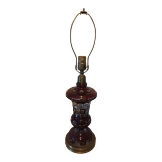 1900s Victorian Crystal Table Lamp For Sale