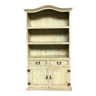 Rustic Farmhouse Painted Hutch For Sale