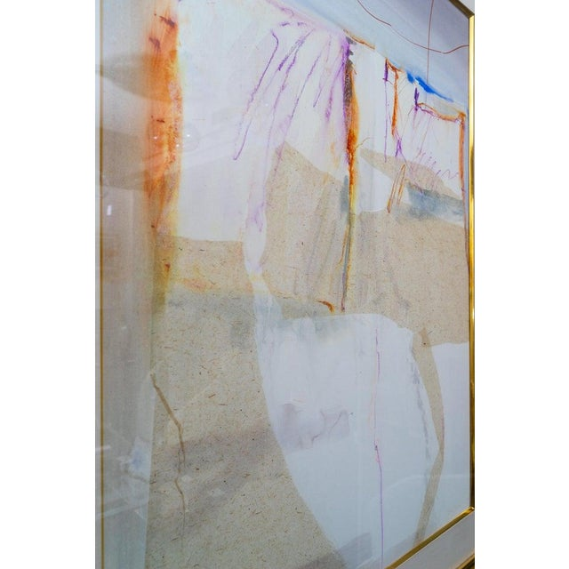 Abstract Mixed Media Painting by American Artist Harold Larsen For Sale - Image 12 of 13