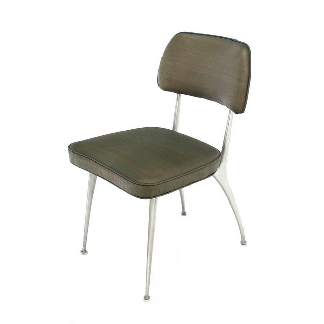 Set of Six Cast Aluminum Dining Chairs For Sale - Image 4 of 7