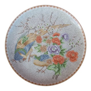 Fleurs De Chine Plate For Sale