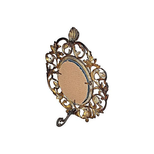 Victorian-Style Brass Mirror - Image 5 of 5