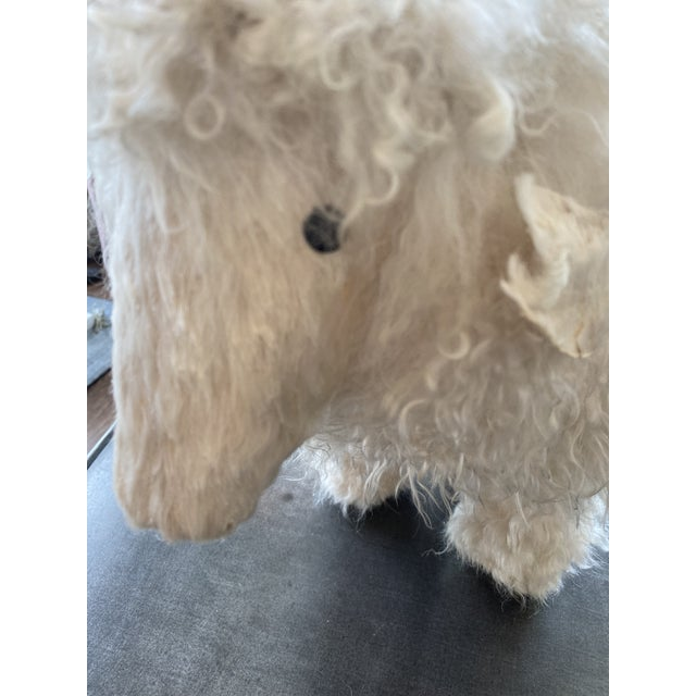 Genuine Sheepskin Ottoman in the Manner of Claude Lalanne For Sale - Image 9 of 10