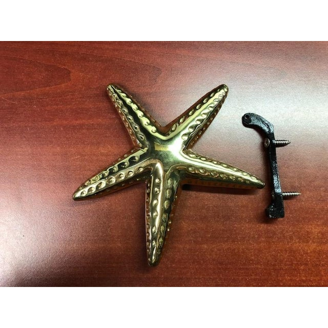 2010s Nautical Michael Healy Brass Starfish Door Knocker For Sale - Image 5 of 5