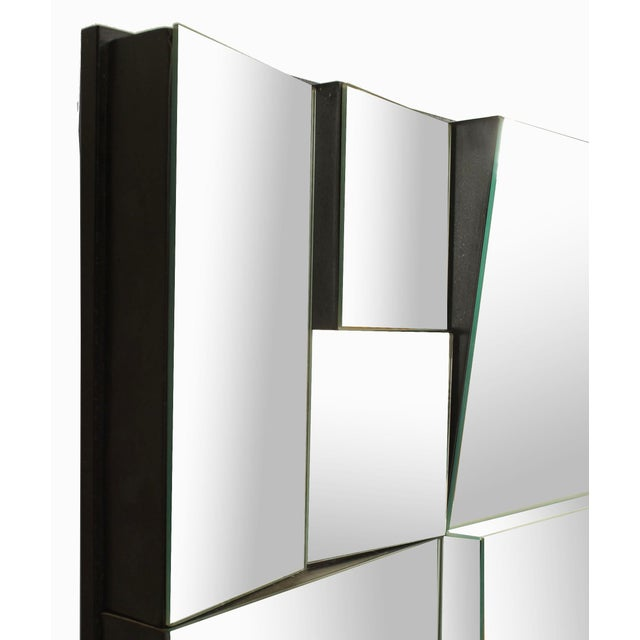Contemporary Modern Cubist Design Neal Small Multi-Faced Wall Mirror For Sale - Image 3 of 4