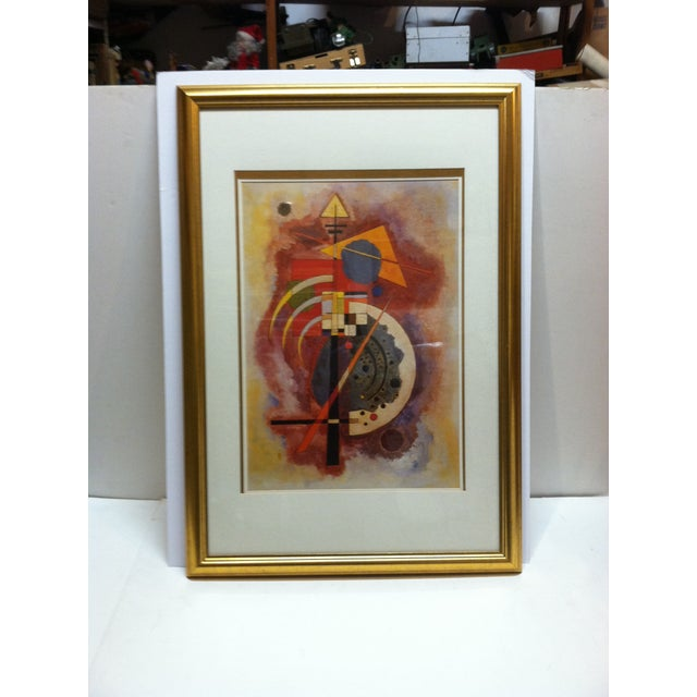 """Red Original """"Abstract Geometric Figures"""" Framed & Matted Print by Wassily Kandinsky For Sale - Image 8 of 8"""