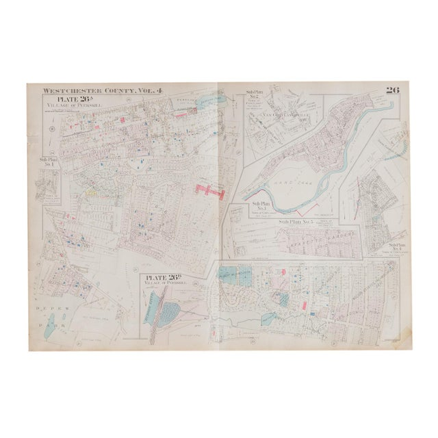 Vintage Hopkins Map of Village of Peekskill For Sale In New York - Image 6 of 6