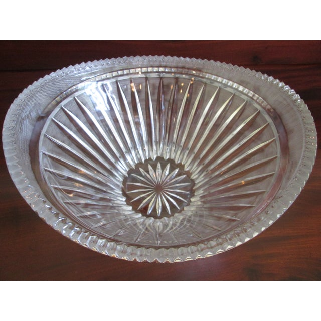 Vintage Cut Crystal Centerpiece Bowl - Image 7 of 7