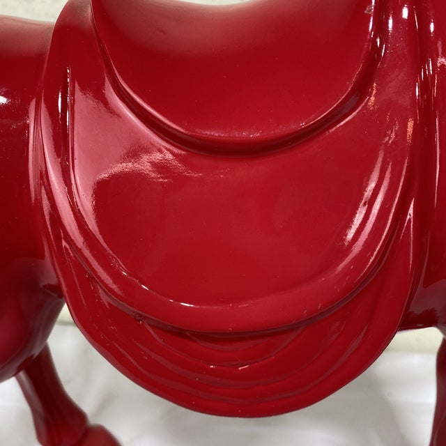 Red High Gloss Resin Horse For Sale In Richmond - Image 6 of 13