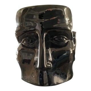 Chrome Finish Ceramic Head Planter For Sale