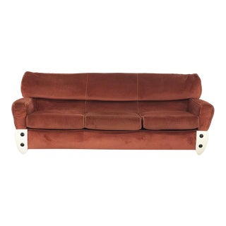 60s Space Age Sofa in Fiberglass and Velvet. For Sale