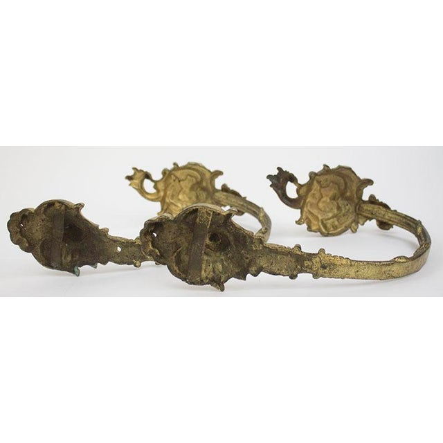 Antique Bronze Drapery Holdbacks - A Pair For Sale - Image 5 of 7