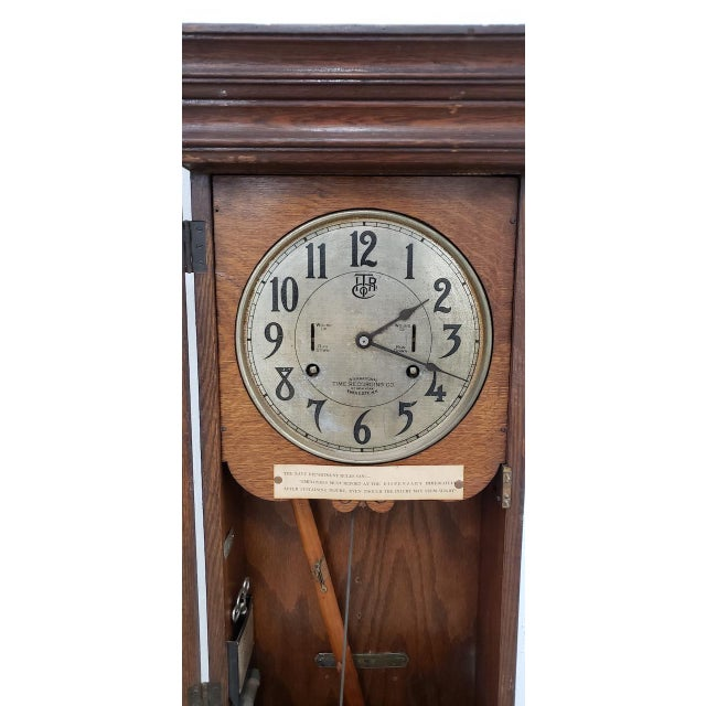 """1930s Vintage """"International Time Recording"""" Time Clock C.1930s For Sale - Image 5 of 8"""