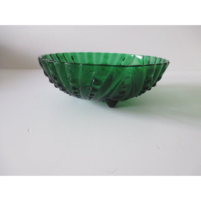 Late 20th Century Vintage Emerald Green Round Decorative Bowl For Sale - Image 5 of 5