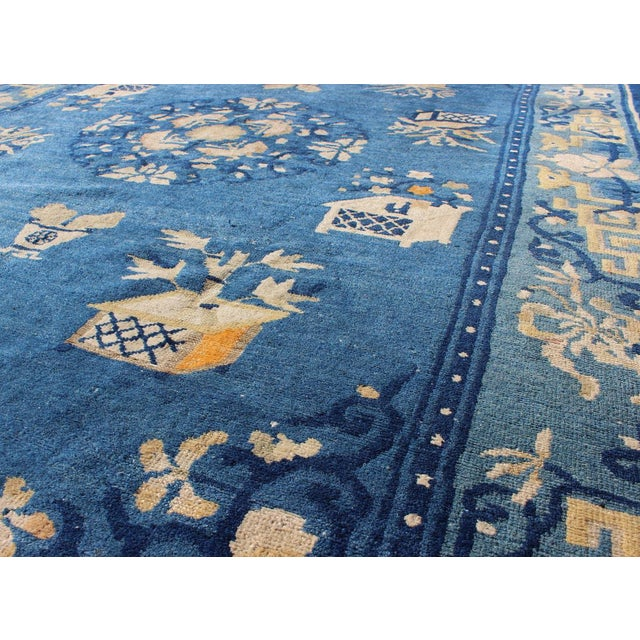 Antique Chinese Peking Rug-5' X 7'9 For Sale In Atlanta - Image 6 of 7