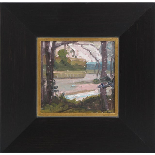 """Impressionism """"Creek View"""" Oil Painting For Sale - Image 3 of 3"""