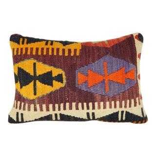 Turkish Lumbar Kilim Pillow For Sale