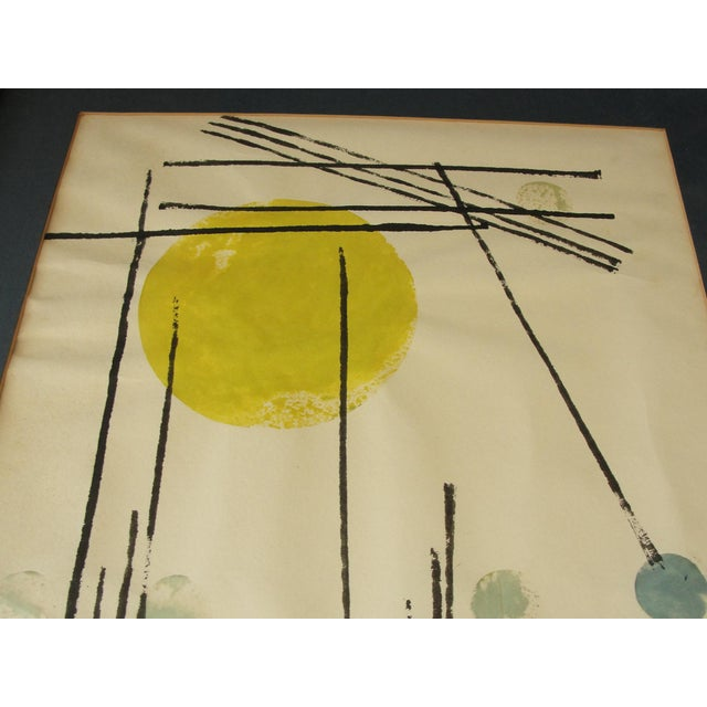Vintage Abstract Expressionist Monoprint - Image 4 of 7