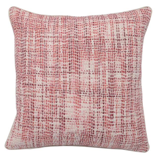 Contemporary Classic Home Brix Pink Pillow For Sale