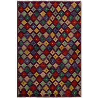 1990s Southwestern Balouchi Filibert Purple/Ivory Wool Rug - 3'6 X 4'10 For Sale