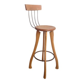 1980s Vintage Bradford Smith Pitchfork Bar Chair For Sale