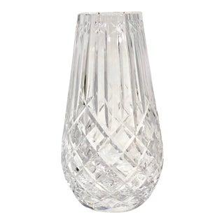 Diamond Cut Cut Waterford Crystal Vase For Sale