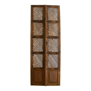 Vintage Lattice Doors - A Pair For Sale