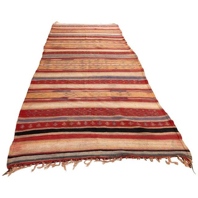 Vintage Moroccan Tribal Kilim Rug, circa 1960 For Sale - Image 13 of 13