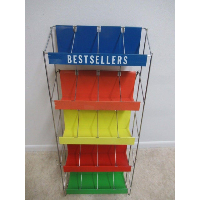 Vintage Chrome Multicolor Book Rack - Image 3 of 11