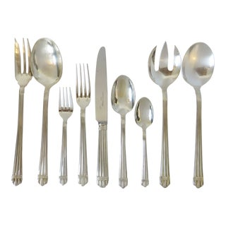 Christofle Sterling Silver Flatware - Set of 64 For Sale